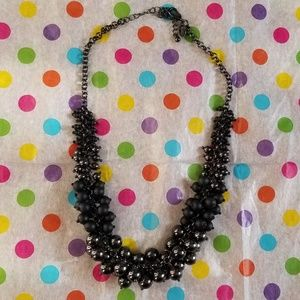 Black Pearl Lia Sophia Necklace